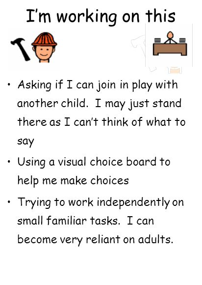 I'm working on this Asking if I can join in play with another child.