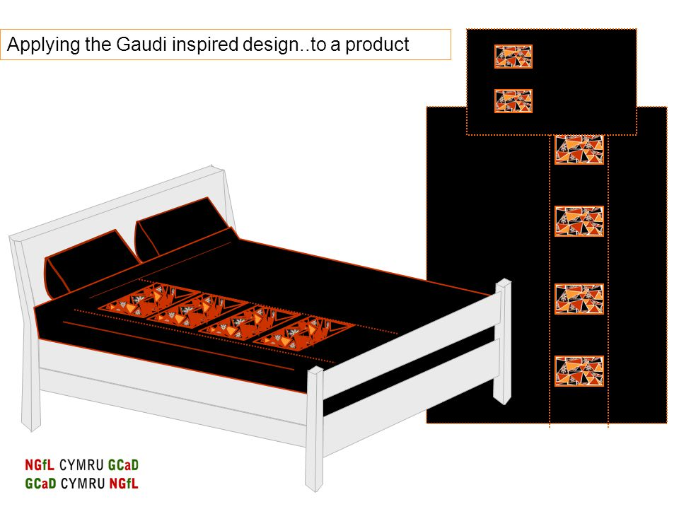 Applying the Gaudi inspired design..to a product
