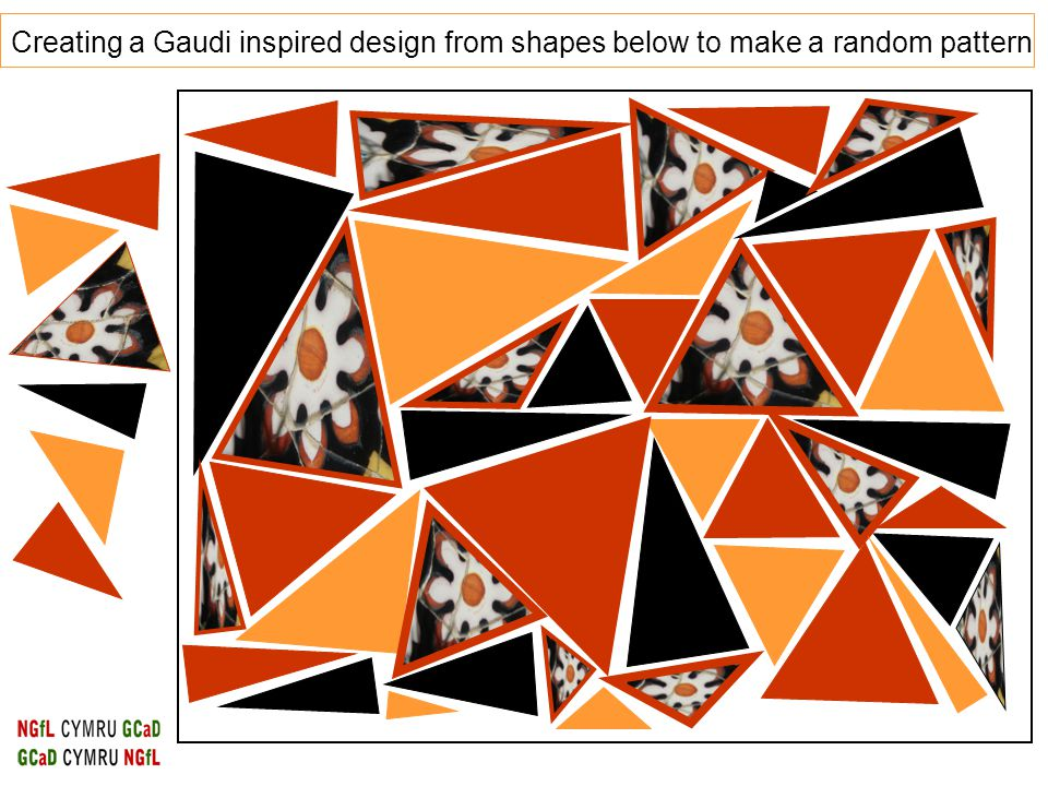Creating a Gaudi inspired design from shapes below to make a random pattern