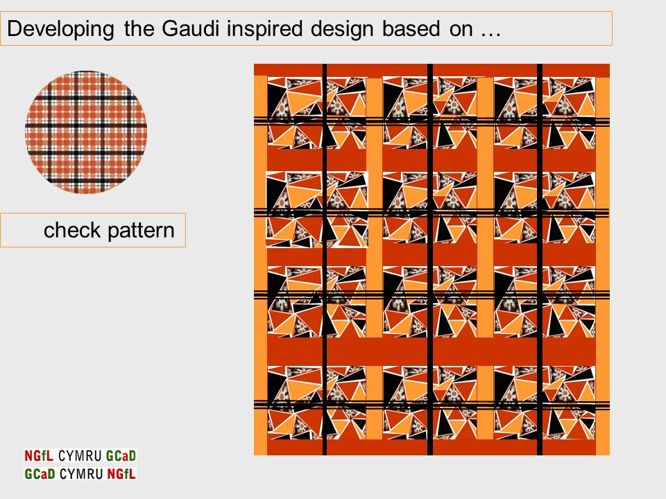 Developing the Gaudi inspired design based on … check pattern
