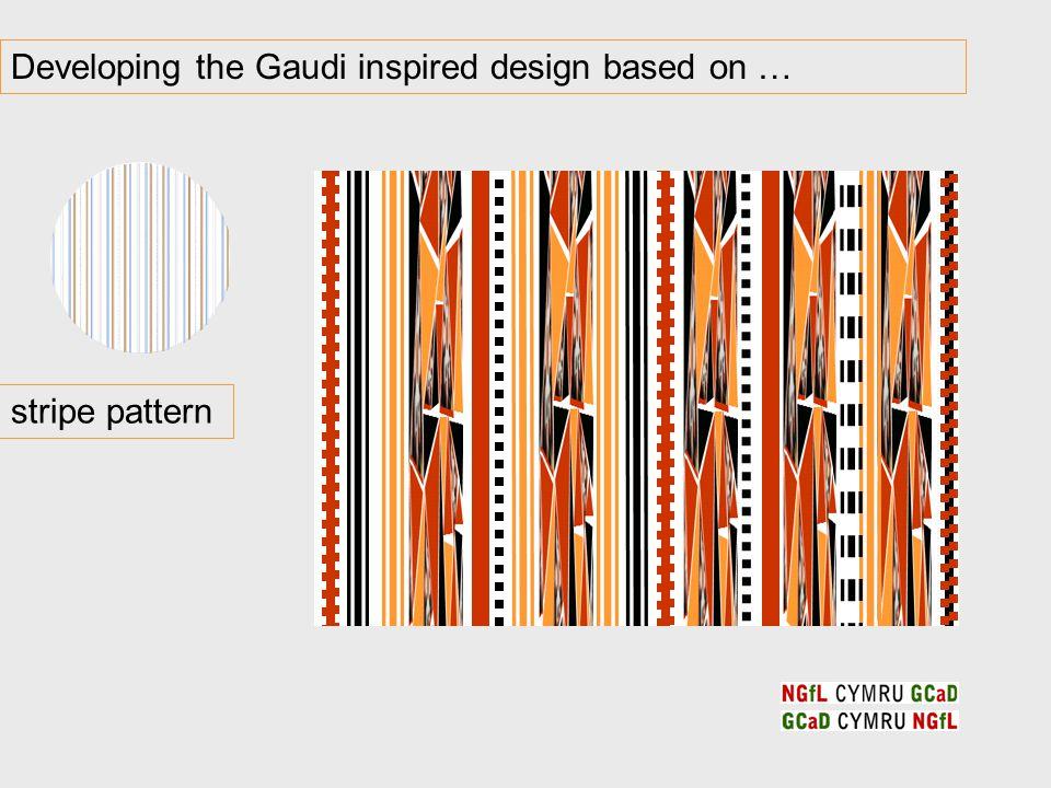 Developing the Gaudi inspired design based on … stripe pattern