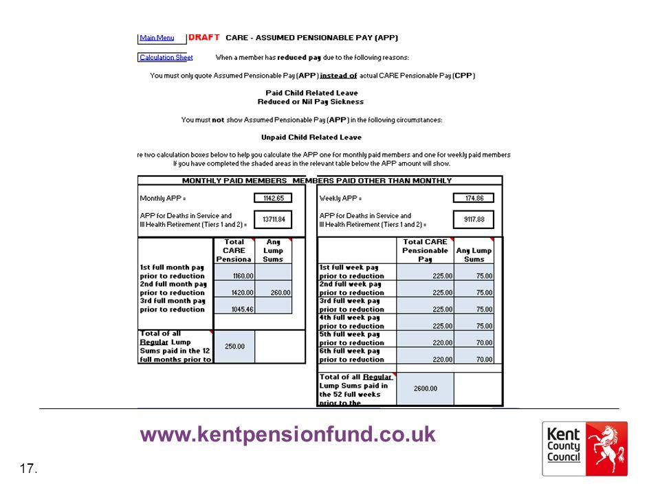 www.kentpensionfund.co.uk 17.