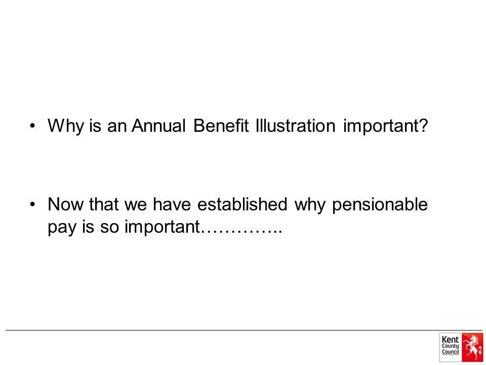 Why is an Annual Benefit Illustration important.