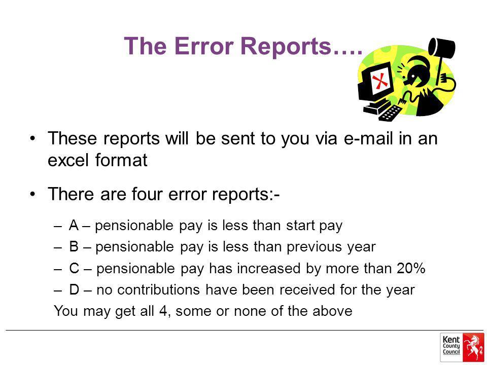 The Error Reports….