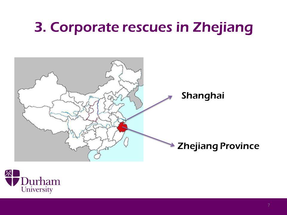 3. Corporate rescues in Zhejiang Zhejiang Province Shanghai 7