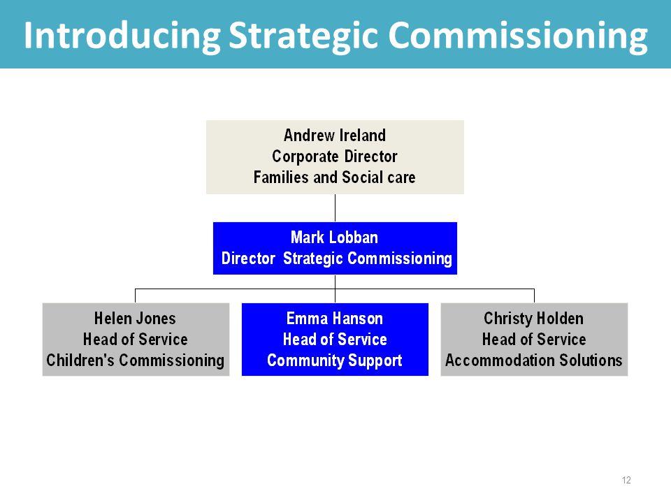 12 Introducing Strategic Commissioning