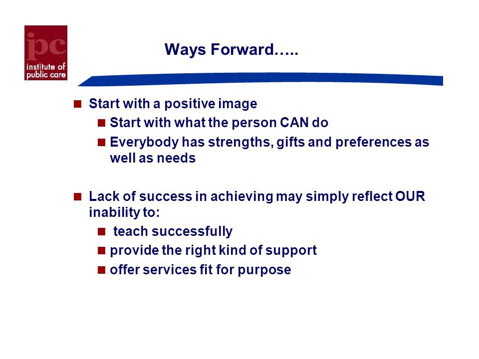 Ways Forward…..