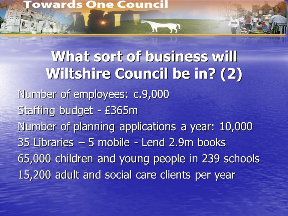 What sort of business will Wiltshire Council be in.