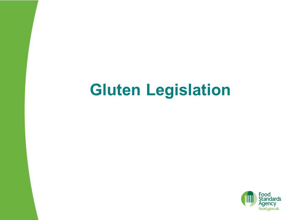 Gluten Legislation