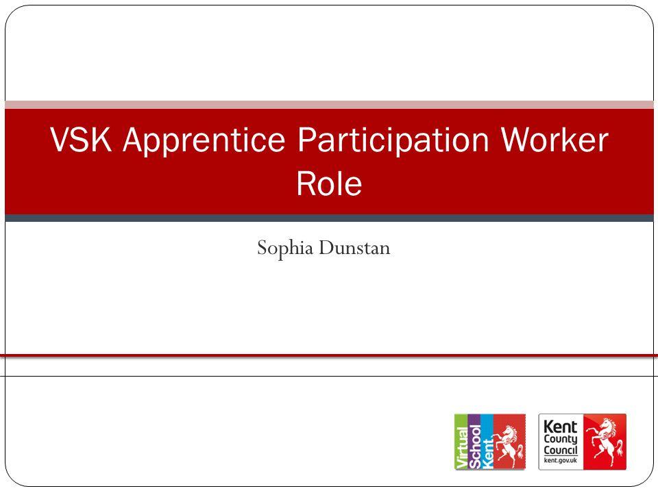Sophia Dunstan VSK Apprentice Participation Worker Role