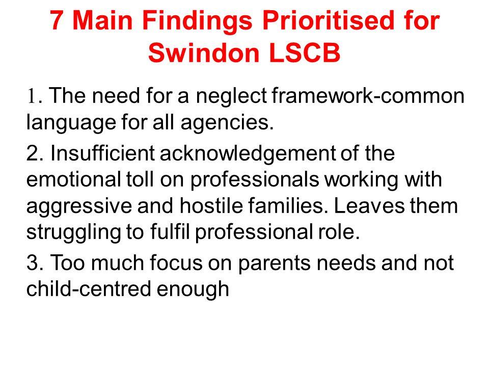 7 Main Findings Prioritised for Swindon LSCB 1.
