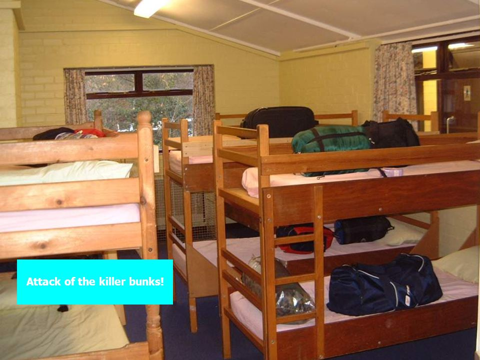 Attack of the killer bunks!