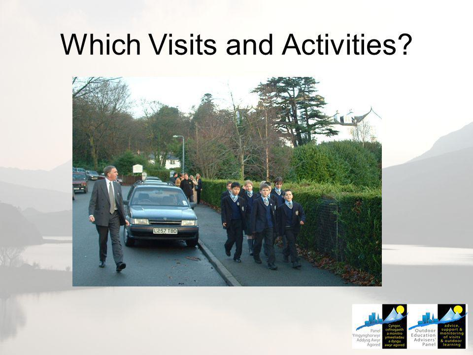 Which Visits and Activities?