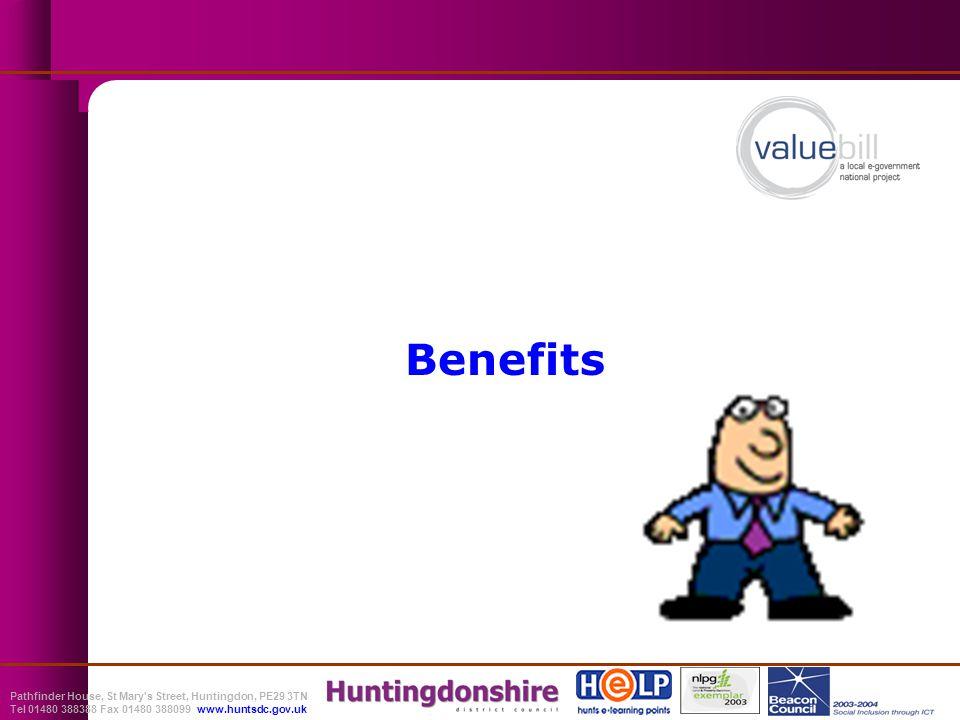 Pathfinder House, St Mary s Street, Huntingdon, PE29 3TN Tel 01480 388388 Fax 01480 388099 www.huntsdc.gov.uk Benefits
