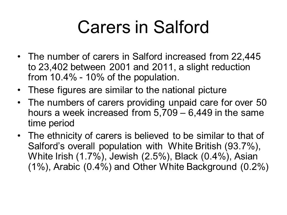 What is the impact of caring The 2013 State of caring survey found Almost a third (31%) of those caring for 35 hours or more per week receive no practical support with caring.