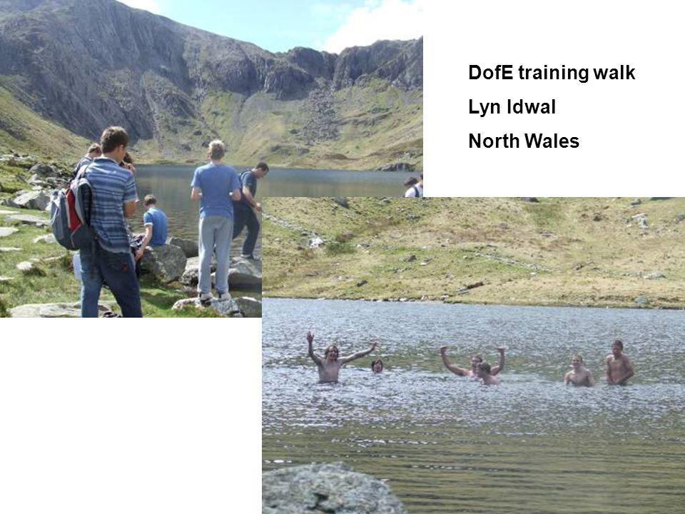 DofE training walk Lyn Idwal North Wales