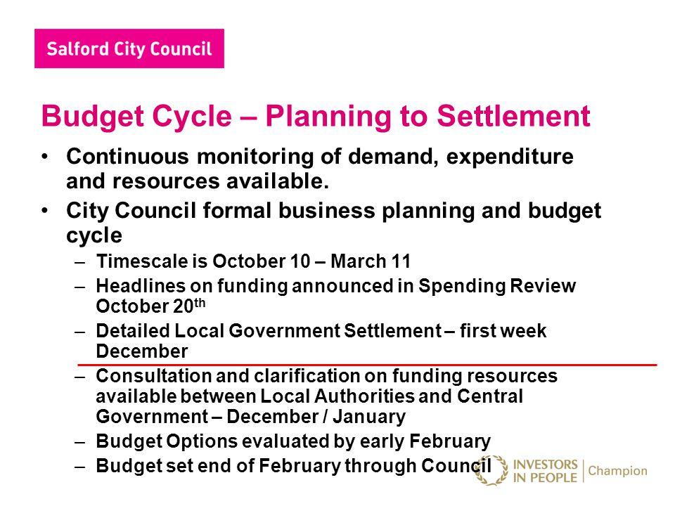 Summary LA Funding Salford Council Funding Specific grants e.g.