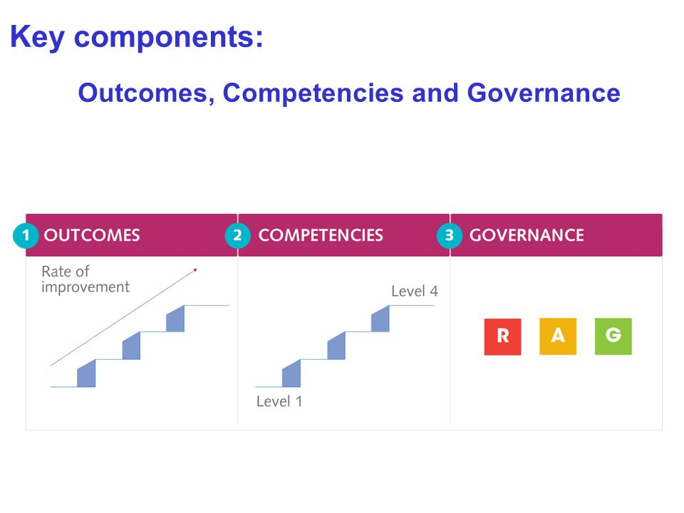 Key components: Outcomes, Competencies and Governance