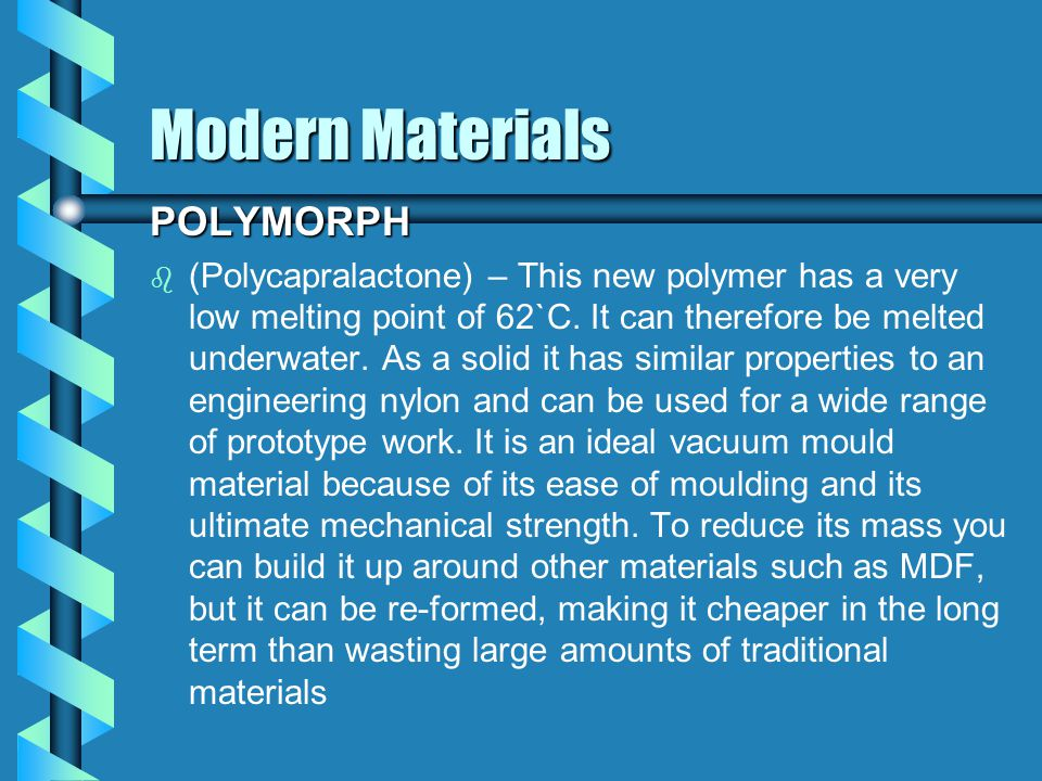 Modern Materials LENTICULAR SHEET b b Improvements in production Technology have made it possible to produce sophisticated optical effects in a wide range of plastic films and sheets.