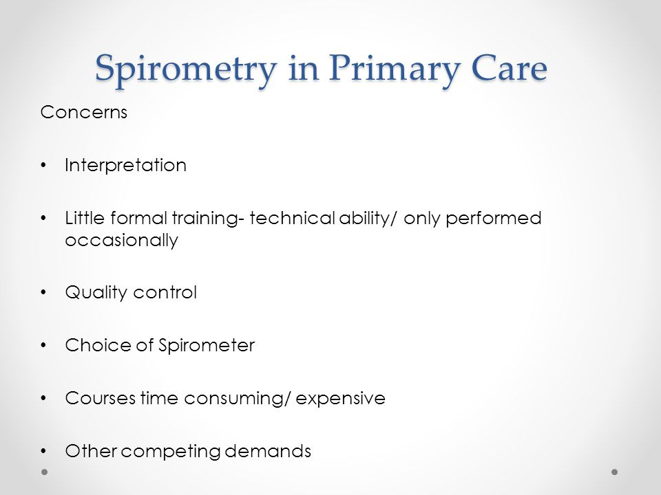 The Ideal ARTP Foundation Certificate in Spirometry o perform spirometry without interpreting the results ARTP Full Certificate in Spirometry o perform and interpret spirometry ARTP Accredited Spirometry register ARTP Spirometry Re-Accreditation o Every 3 years