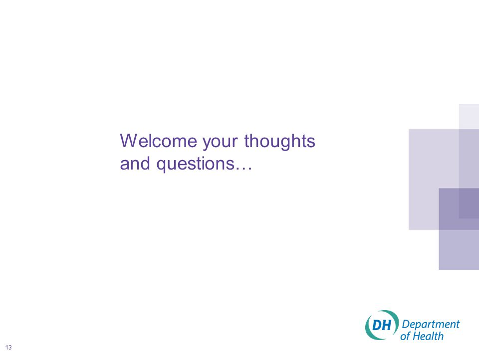 13 Welcome your thoughts and questions…