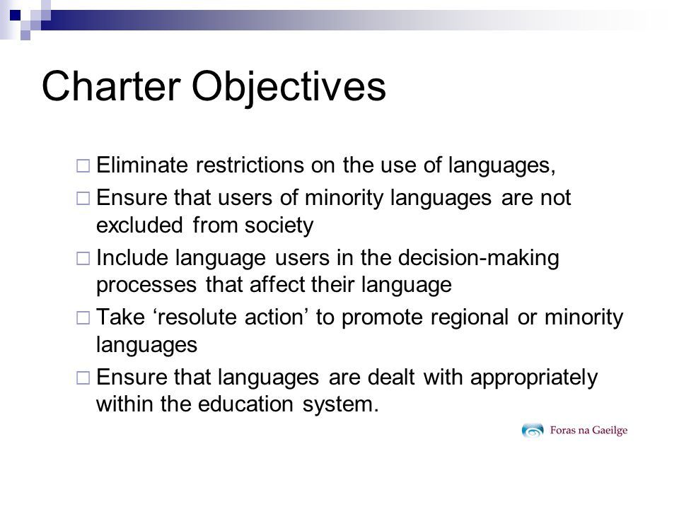 Charter Objectives Maintain Safeguard Protect St.