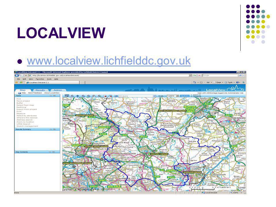 LOCALVIEW www.localview.lichfielddc.gov.uk