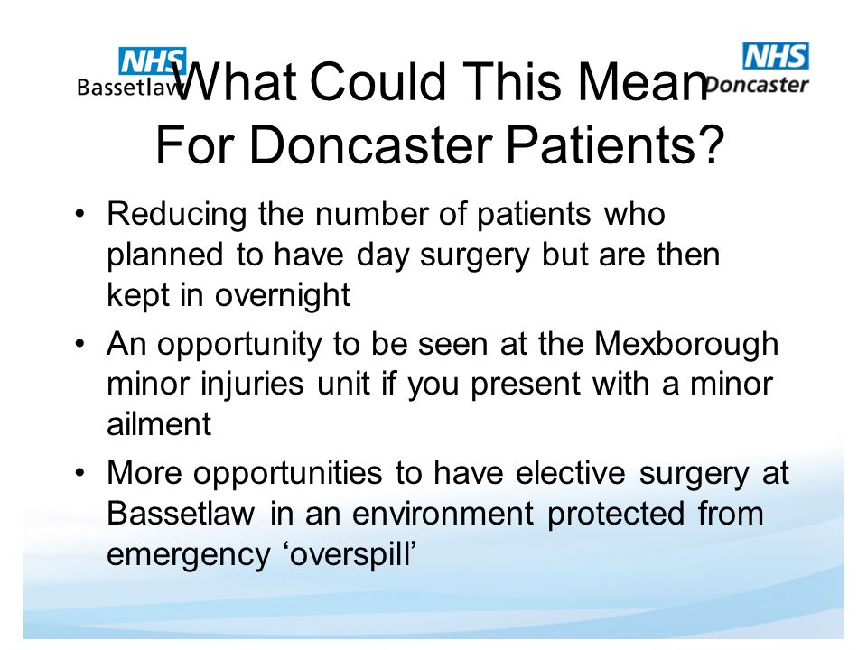 What Could This Mean For Doncaster Patients.