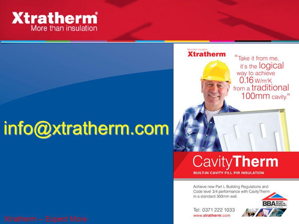 info@xtratherm.com 43 Xtratherm – Expect More