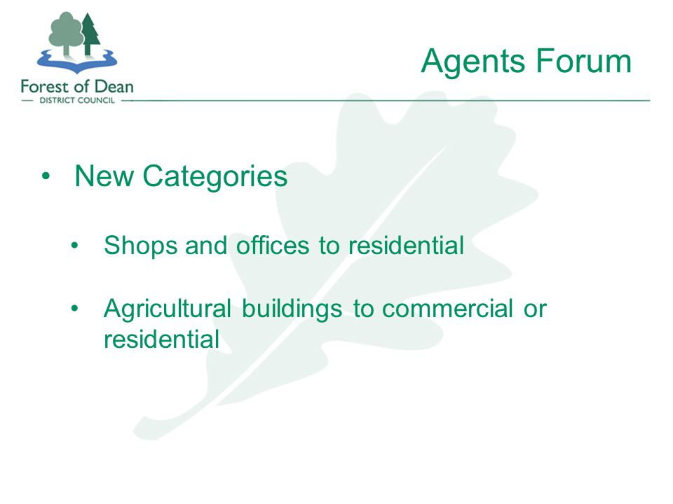 Agents Forum New Categories Shops and offices to residential Agricultural buildings to commercial or residential