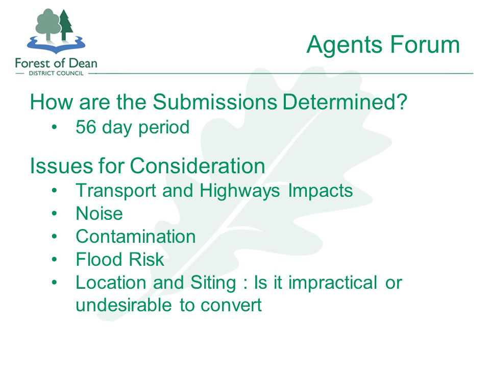Agents Forum How are the Submissions Determined.