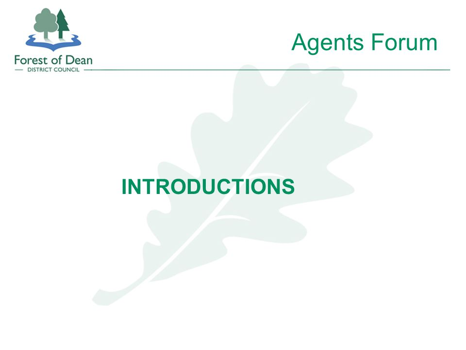 Agents Forum INTRODUCTIONS