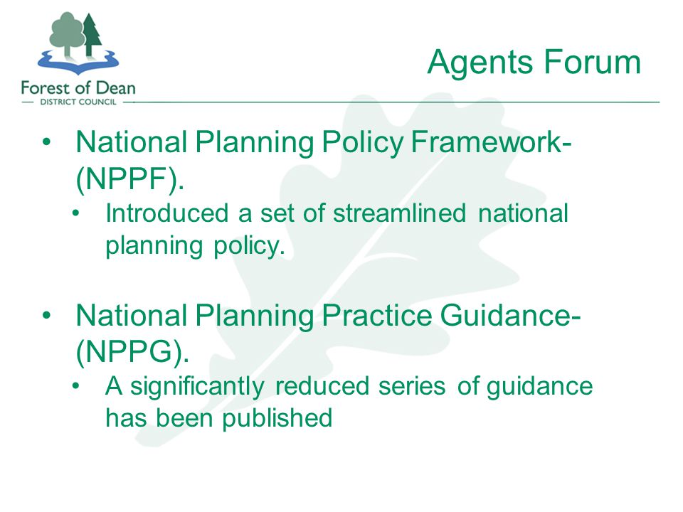 National Planning Policy Framework- (NPPF).