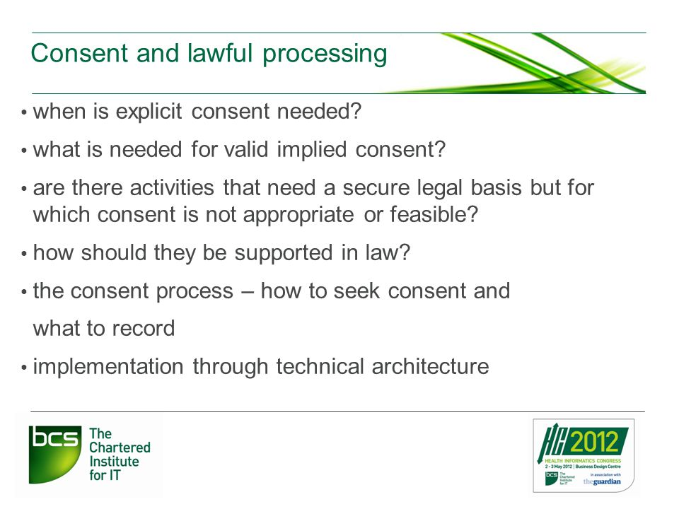 Consent and lawful processing when is explicit consent needed.