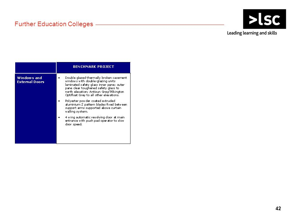 Further Education Colleges 42