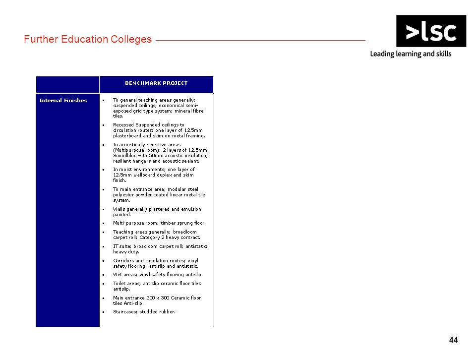 Further Education Colleges 44