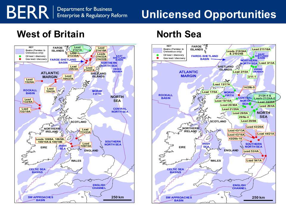 West of BritainNorth Sea Unlicensed Opportunities