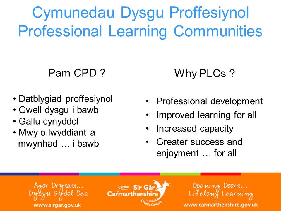 Cymunedau Dysgu Proffesiynol Professional Learning Communities Pam CPD .