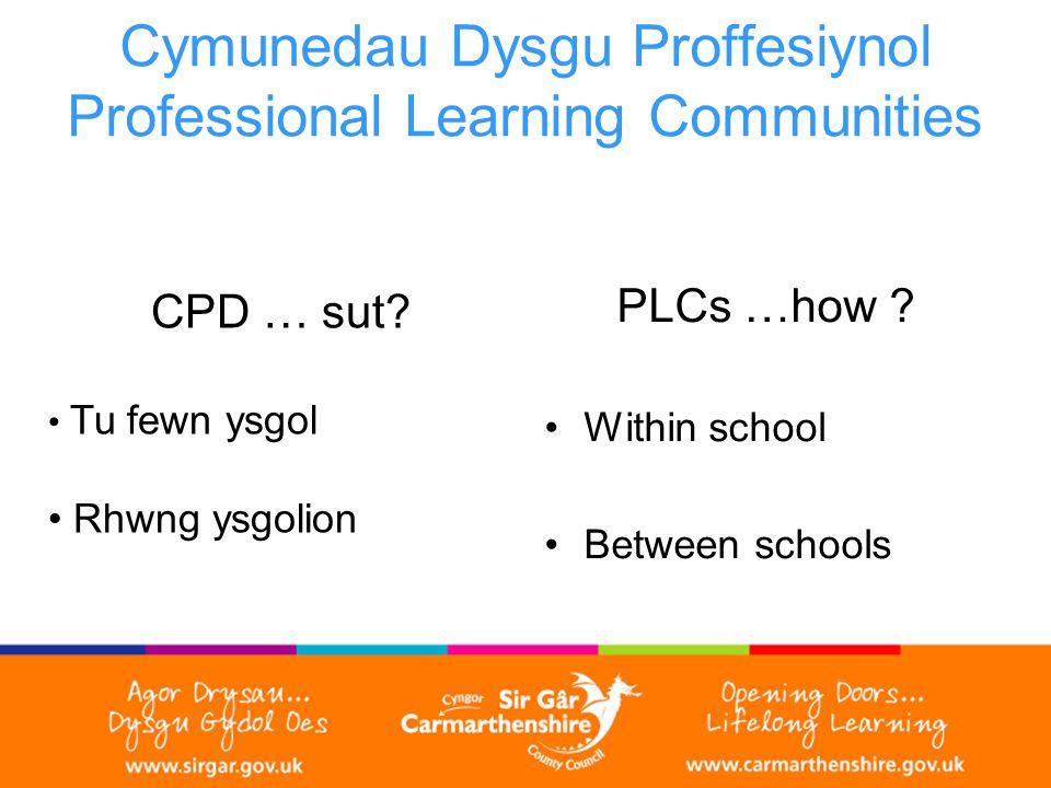 Cymunedau Dysgu Proffesiynol Professional Learning Communities CPD … sut.