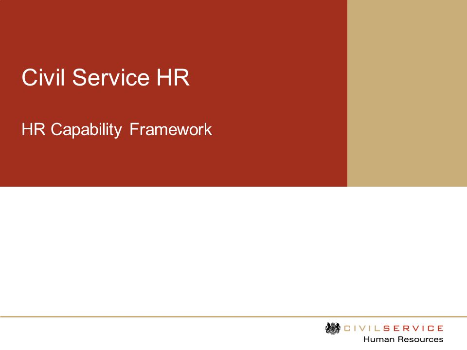 Purpose of the framework The HR capability framework sets out professional standards which Civil Service HR professionals should demonstrate.