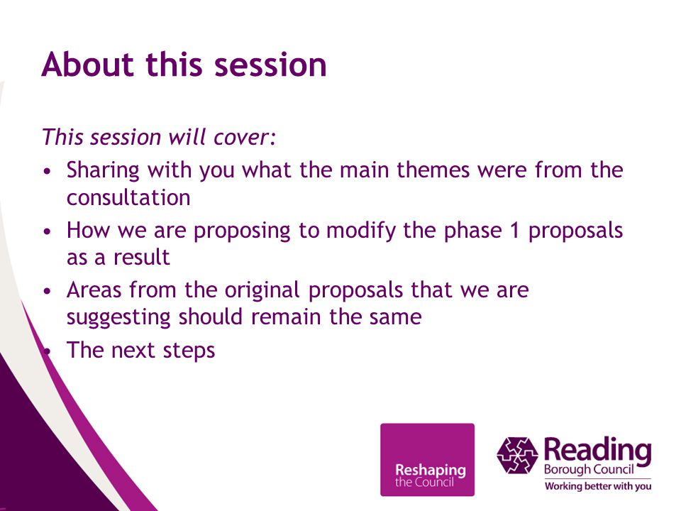 What is proposed to stay the same from the phase 1 proposals?