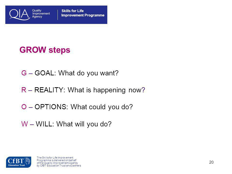 Skills for Life Improvement Programme The Skills for Life Improvement Programme is delivered on behalf of the Quality Improvement Agency by CfBT Educa