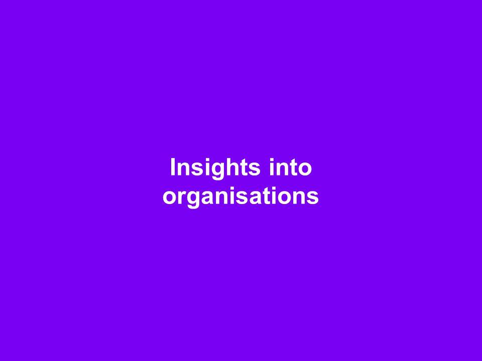 14 Insights into organisations