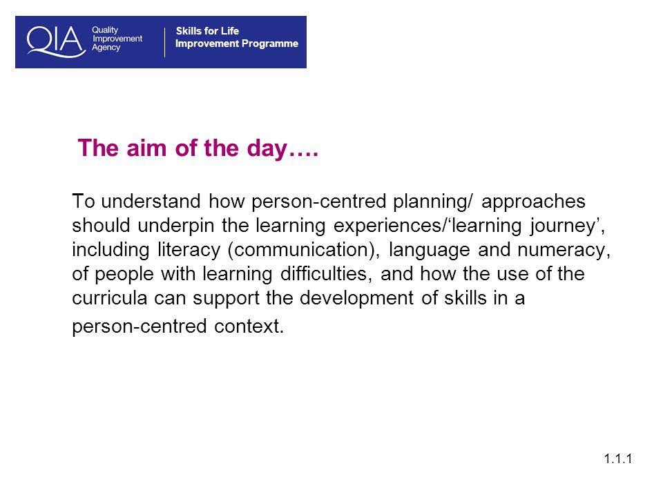 Skills for Life Improvement Programme 1.5.3