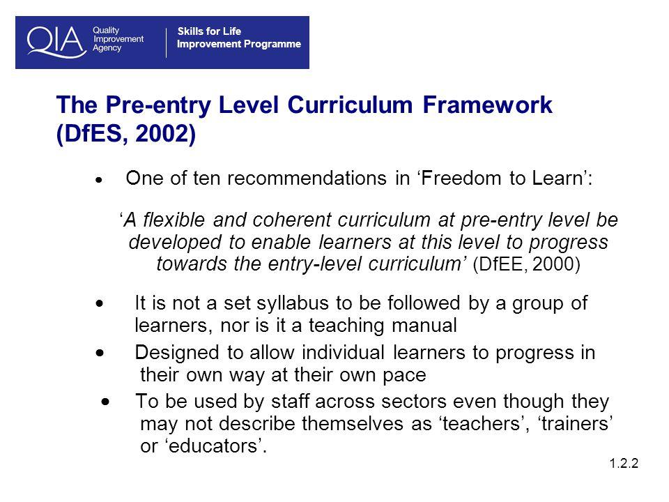 Skills for Life Improvement Programme 1.6.3