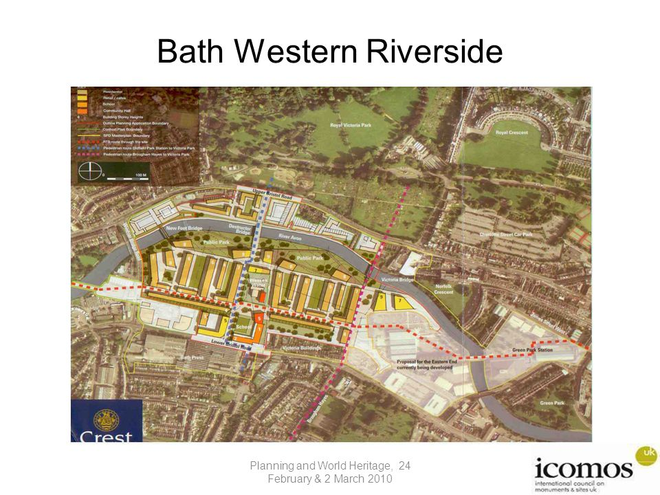 Bath Western Riverside Planning and World Heritage, 24 February & 2 March 2010