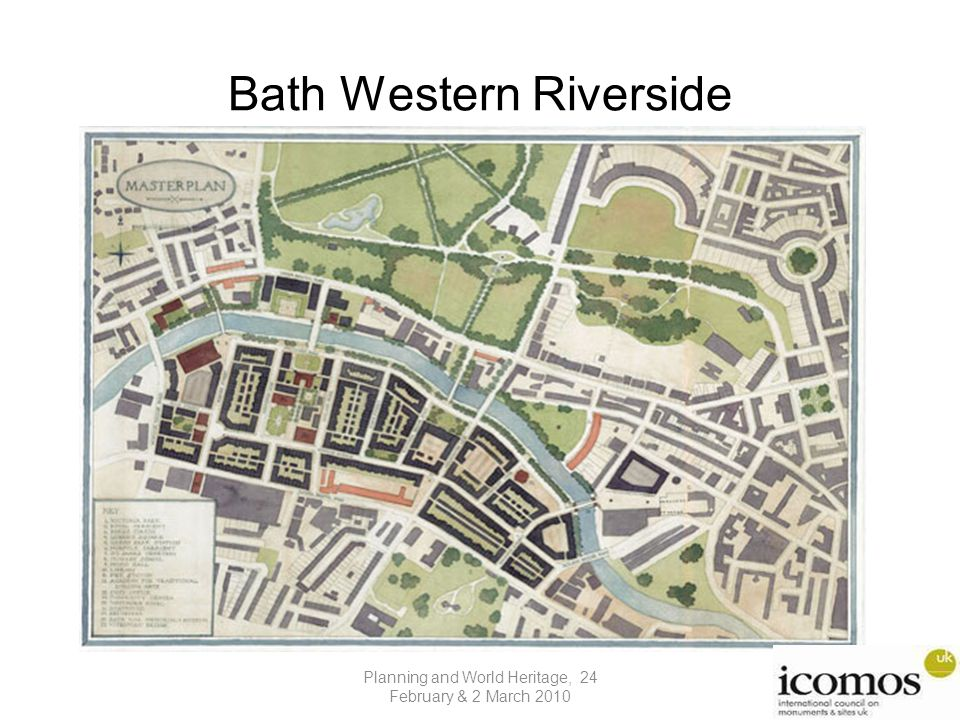 Bath Western Riverside Insert photo of Notre Dame scheme Planning and World Heritage, 24 February & 2 March 2010