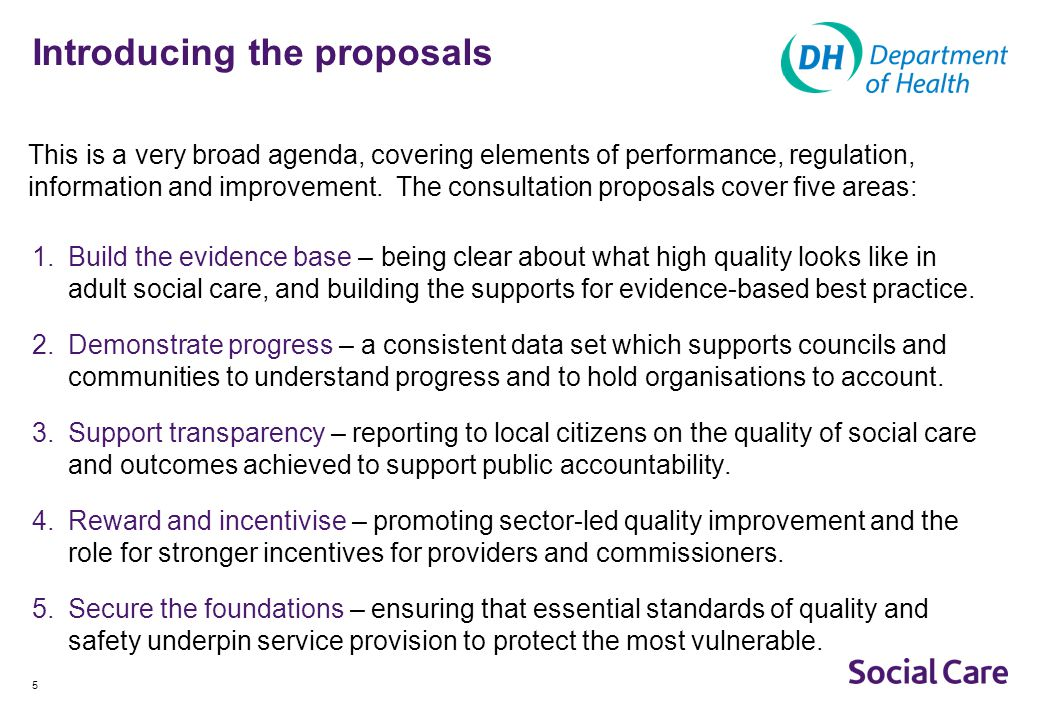 6 Build the evidence base This is about getting a clear, evidence-based picture of what high quality looks like, to improve service provision, inform commissioning and promote choice.