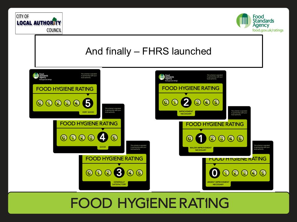 And finally – FHRS launched