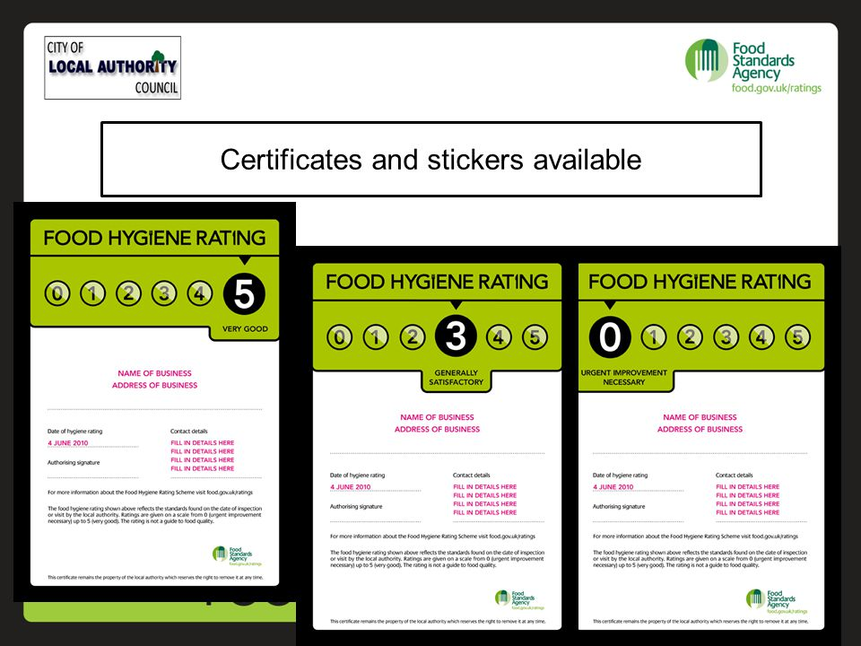 Certificates and stickers available